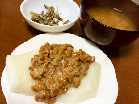 レンジでチンだけの納豆餅