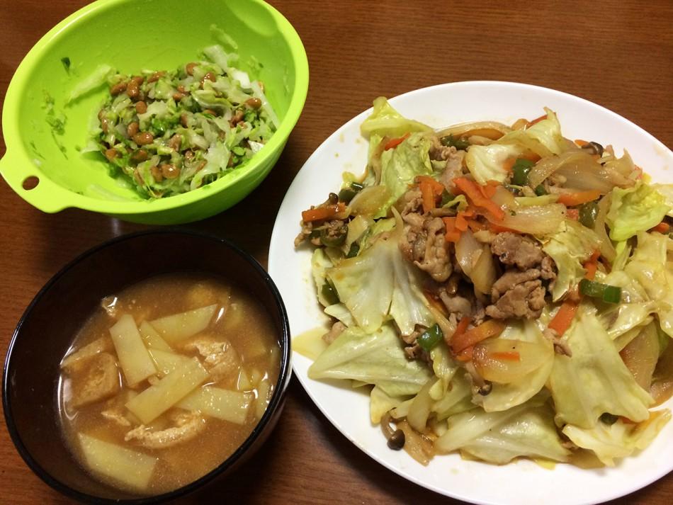 時間が無い時の…肉野菜炒め