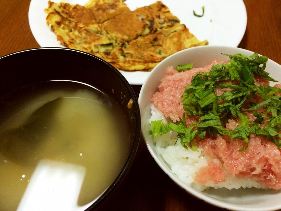忙しい時にサッとかき込む!マグロのたたき丼、海鮮チヂミ