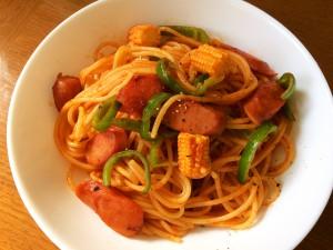 【嫁の旦那の飯】スパゲティナポリタン