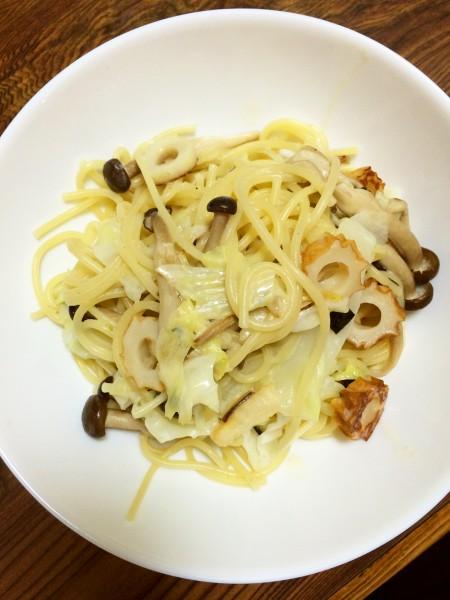 超簡単なのでレシピも書きます。松茸のお吸い物パスタ豆乳ソース